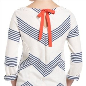 Anthropologie Postmark striped tie up blouse
